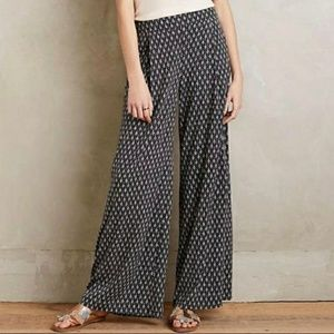 Elevenses black & white palazzo pants side slit S